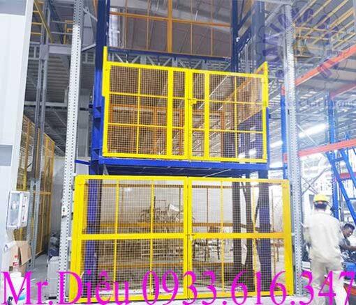 lắp đặt thang nâng hàng 2000kg